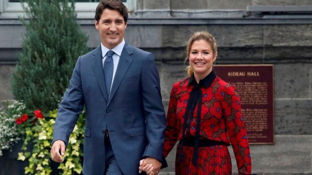 رئيس الوزراء الكندي و زوجته