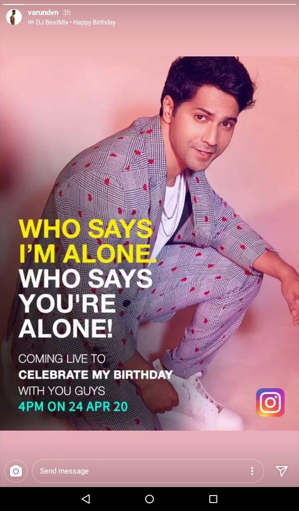 بسبب الكورونا.. فارون دهاوان يحتفل بعيد ميلاده افتراضيا :