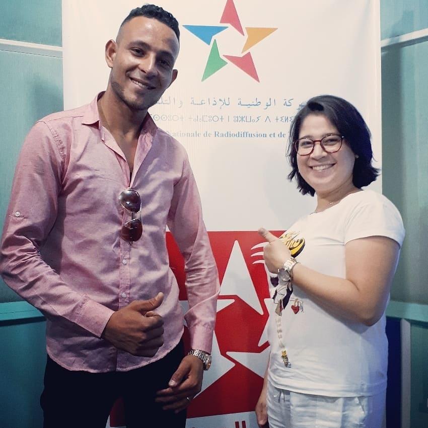 فنان راي جمال الصحراوي مع المنشطة ريم شماعوا على اثير الاذاعة الوطنية بالرباط