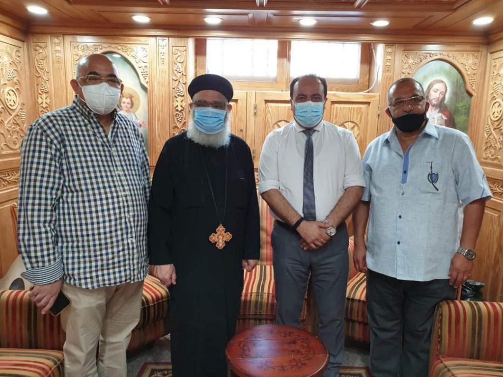 وكيل وزارة الصحة  فى ضيافة  مطرانية بورسعيد