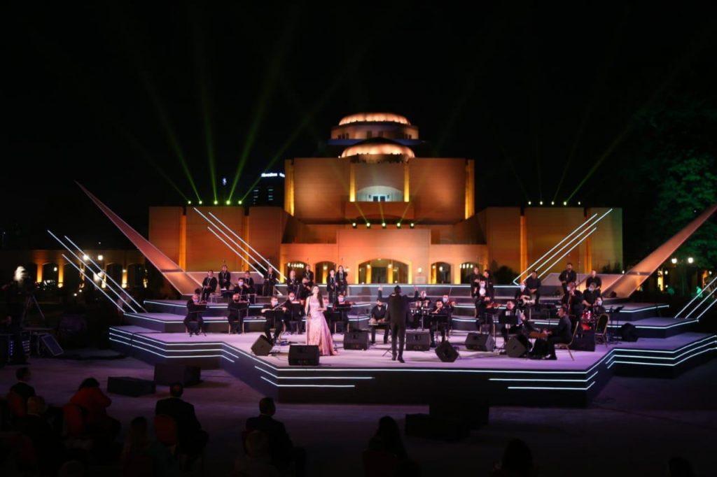 وزيرة الثقافة تطلق اشارة استئناف نشاط الاوبرا على مسرح النافوره