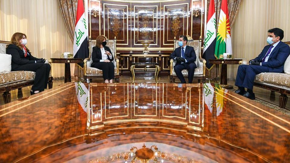 رئيسا إقليم وحكومة كردستان يناقشان قضايا النازحين مع وزيرة الهجرة العراقية