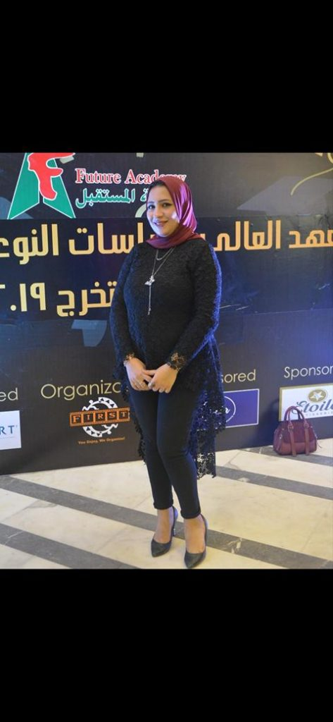 """الكاتبه الصحفيه """"صابرين  """"سعيدة بمشاركتي في مهرجان """"اوسكار ايجيبت """""""