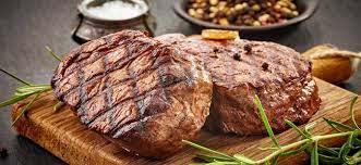 اللحم المشوي على البوتاجاز