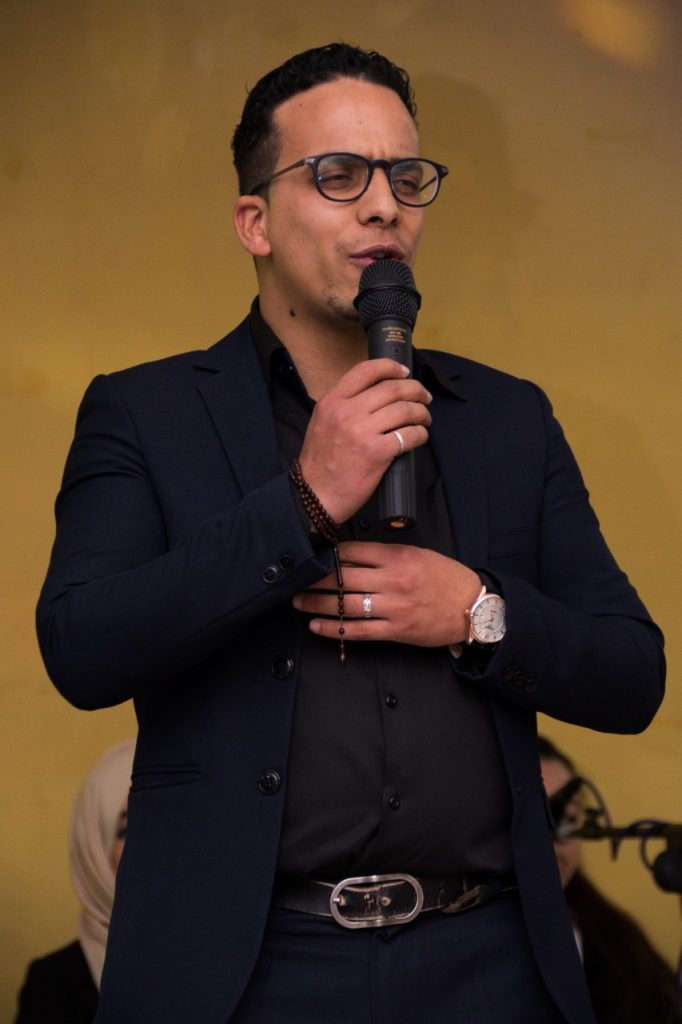 الشاب المبدع مدير المسابقة و رئيس الجمعية ياسين العوني