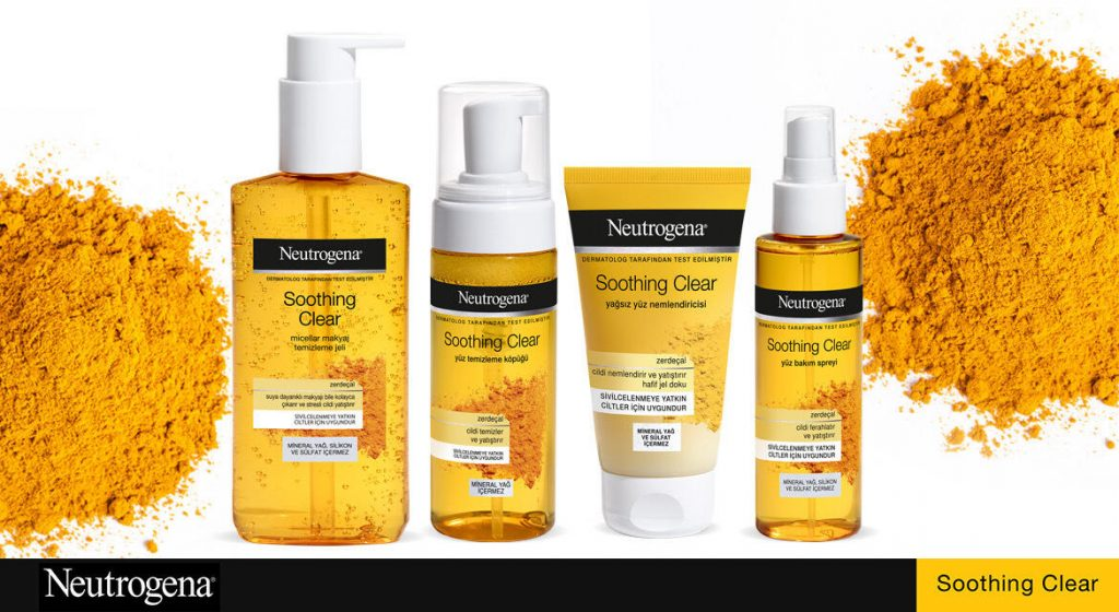 neutrogena® Soothing Clear بتجربة قوة الكركم