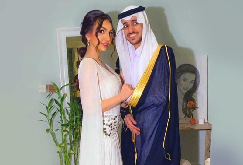 عقد قران الفنان عايض والممثلة هبة حسين يتصدر الترند
