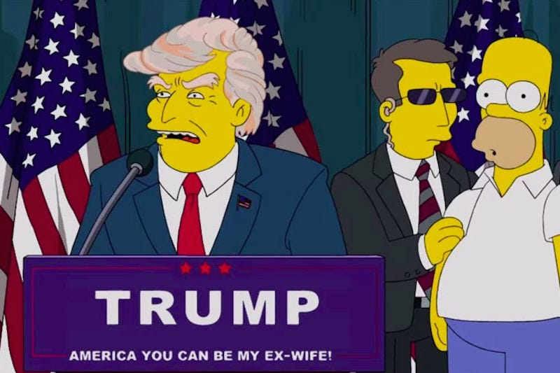 Trump's corona caught prophecy in The Simpsons TV series