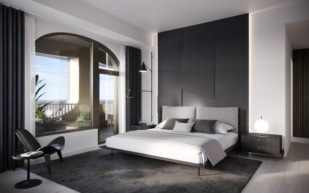 يمكن تحويل إحدى الغرف إلى مكتب خاص مع مكتبة مصممة للعمل والاسترخاء، وفق تصاميم بلمسات معاصرة وعناصر مخصصة.