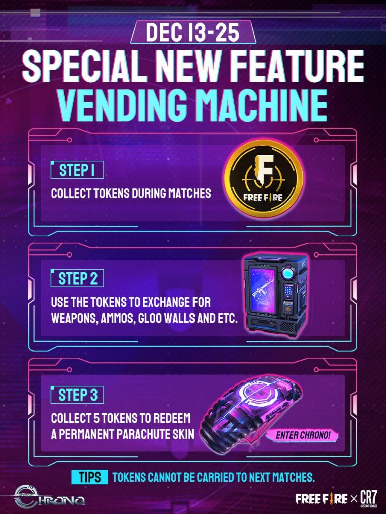 An all-new in-game Vending Machine will also be available in Free Fire