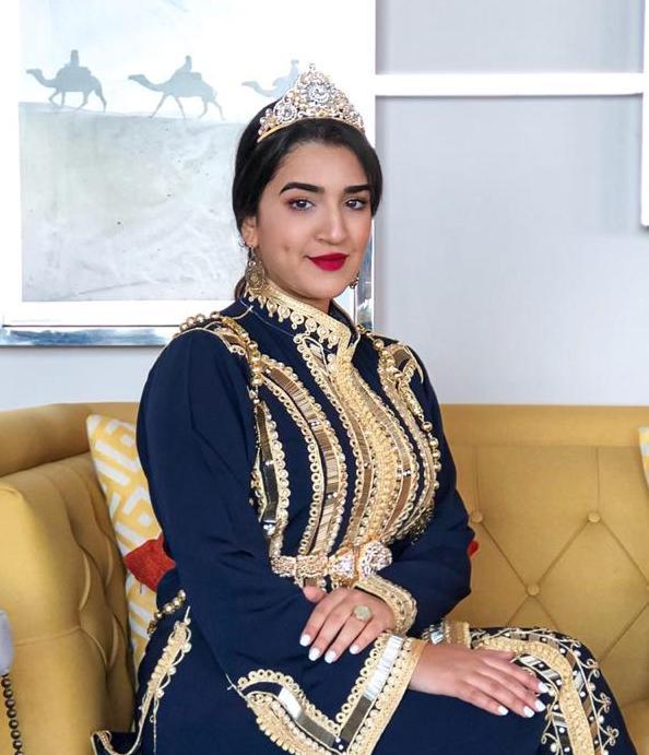 شيماء زنكور من  الحسيمة تتألق في المسابقة الدولية لملكة جمال الاطلس 2021