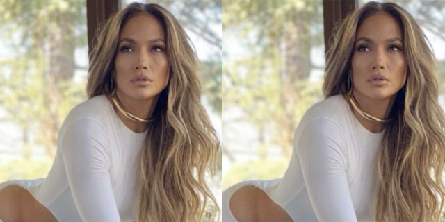 Jennifer Lopez Proves That Less Is More in a White Skintight Cut-Out Gown