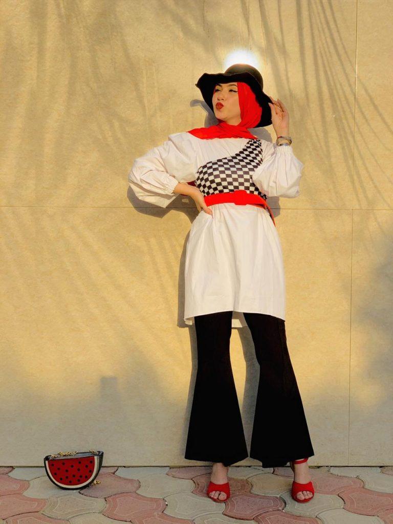 مى عبد الفتاح تنافس كبرى مصممى الأزياء بفعاليات الموضة بدبى