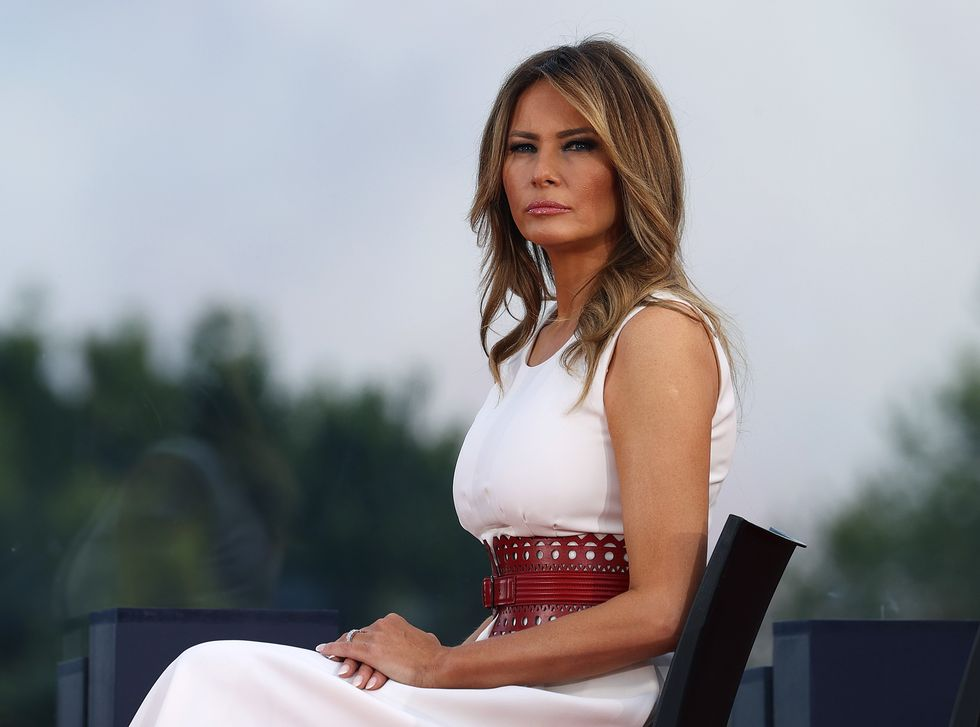 Melania Trump Condemns The Riots Half A Week Late, Then Makes It About Herself