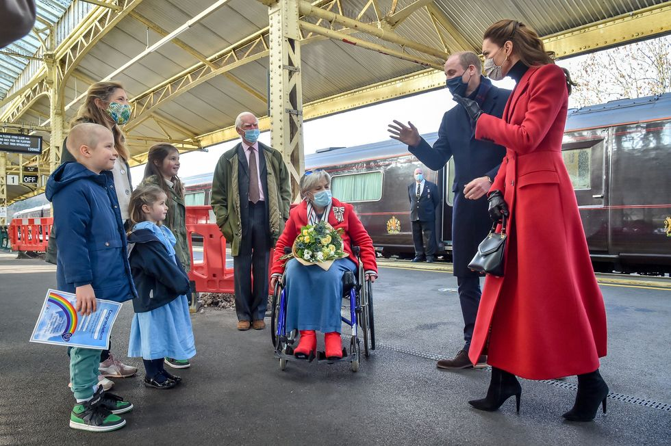 Kensington Palace Responds to Claims That William and Kate Ignored Calls to Postpone Their Train Tour