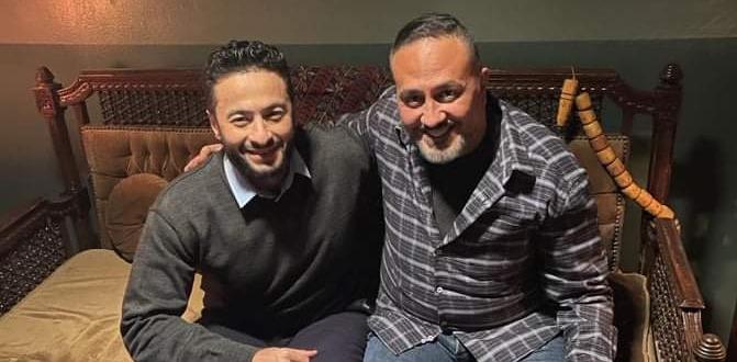 """النجم خالد سرحان، أنتهى مؤخرًا من تسجيل أغنية تتر مسلسلة الإذاعى الجديد """"بينى و بينك"""""""