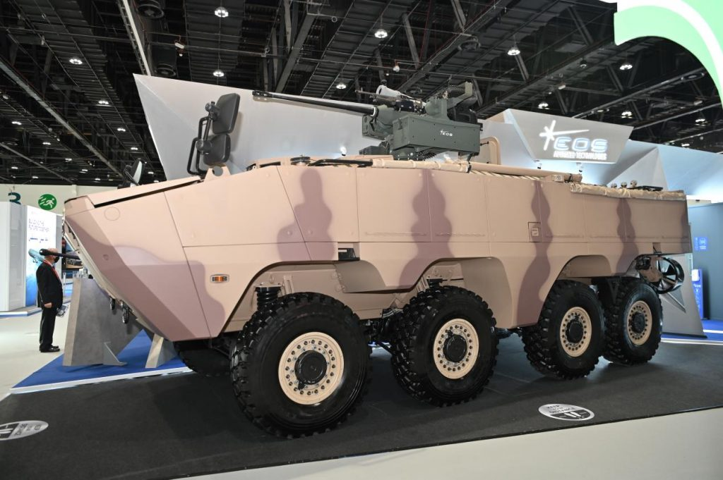 AL JASOOR's Rabdan 8x8 is First to Integrate NextGen EOS R800 Remote Weapon System