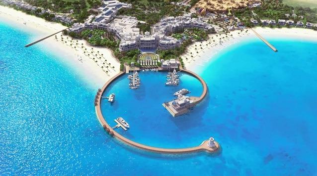 يقع منتجع وفلل هيلتون شاطئ سلوى في شارع سلوى، عند مخرج 84 في قطر