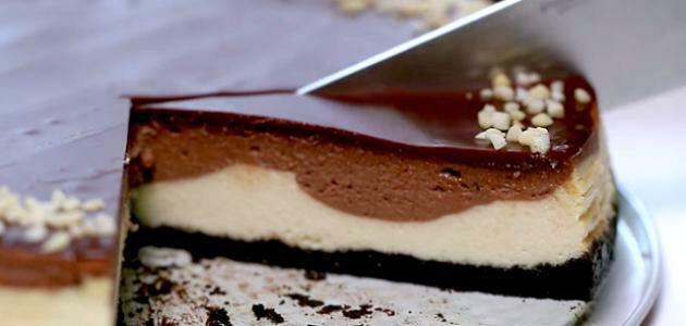 تشيز كيك بالشوكولاتة