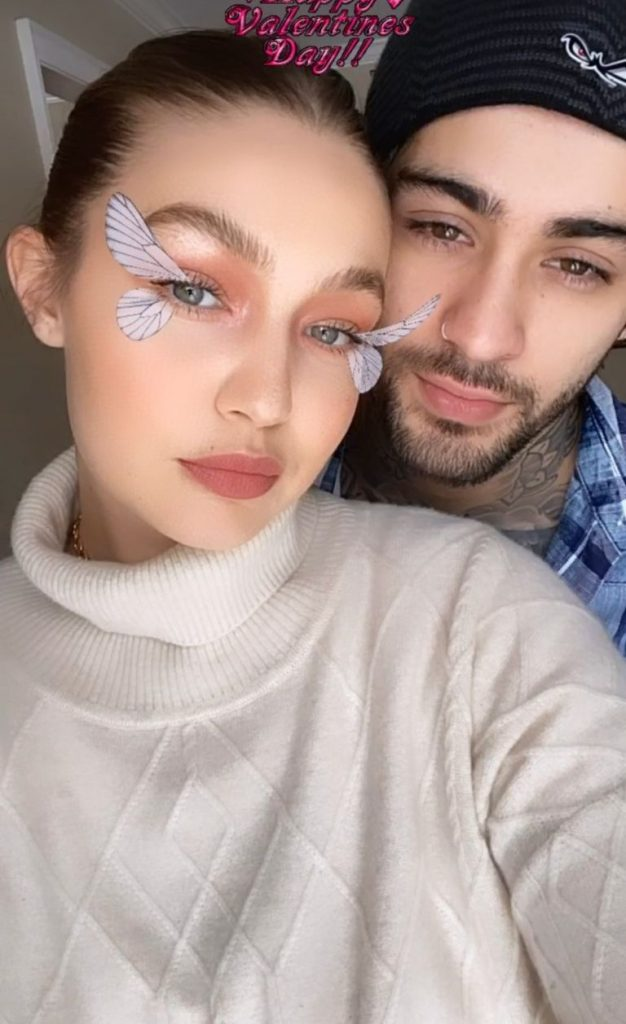 Gigi Hadid Shares Rare New Photos Of Her And Zayn Malik In Valentine's Day Posts