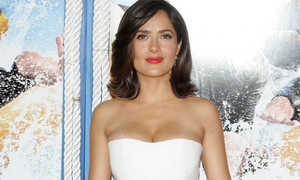 Salma Hayek is perfection in white during glamorous home visit with friends - fans react