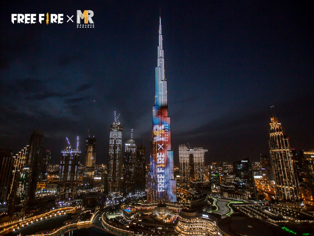 Garena takes over Burj Khalifa to reveal Mohamed Ramadan's in-game character for Free Fire
