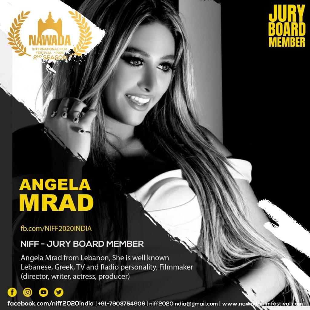أنجيلا مراد في لجنة تحكيم مهرجانات سينمائية عالمية