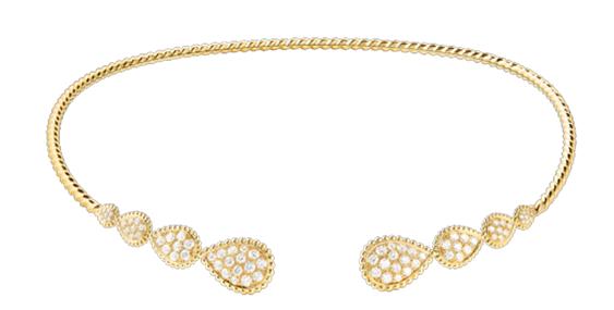 طوق Serpent Bohème بتصميم ذي رؤوس ثعبان متعدّدة، من الماس، والذهب الأصفر