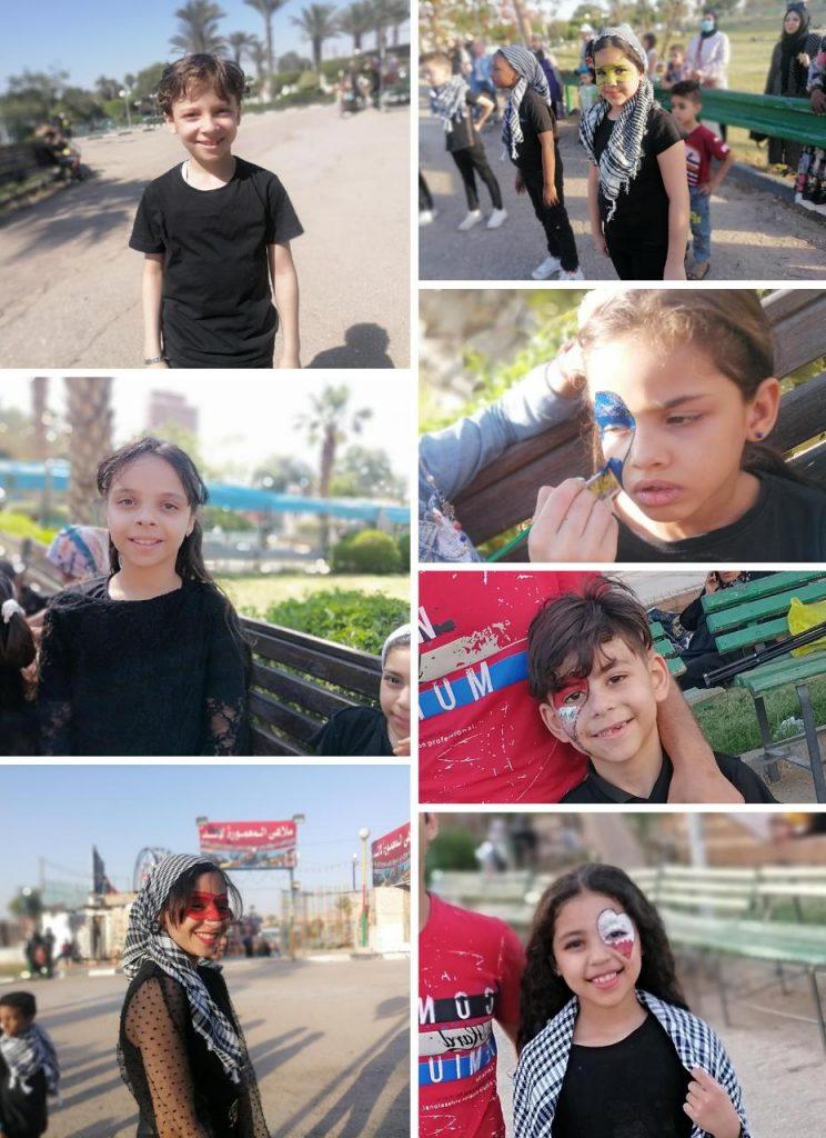 شاهد/ أطفال طلائع نقطة نور يتضامنون مع القضية الفلسطينية