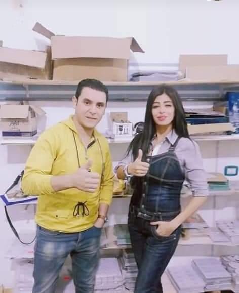 الإعلامية دينا ثروت مع الاستاذ أحمد الدفاني رئيس التحرير التنفيذي للبرامج الحوارية للإعلامية القديرة دينا
