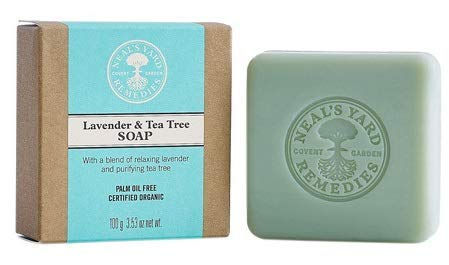 Neal's Yard Lavender And Tea Tree Soap AED 40 Available at Neal's Yard Stores in Dubai Mall, Marina Mall, and Wafi Ma