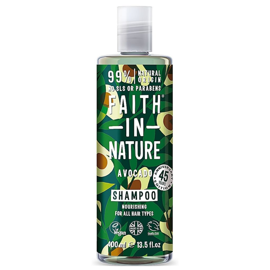 Faith in Nature Avocado Shampoo  AED 40  Available at www.Kibsons.com