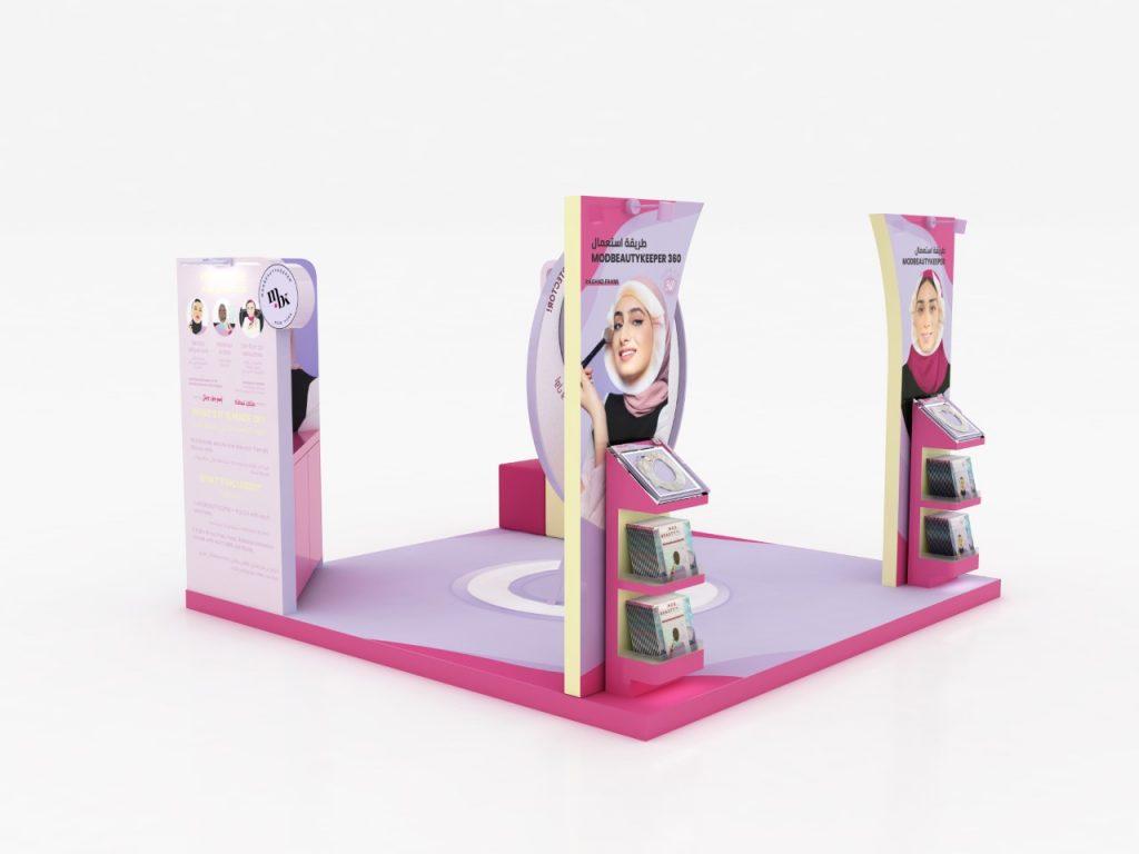 إنطلاق 'كشك' تجاري مؤقت في دبي لبيع منتج التجميل المبتكر: واقي الحجاب من بقع المكياج ومنتجات البشرة ModBeautyKeeper