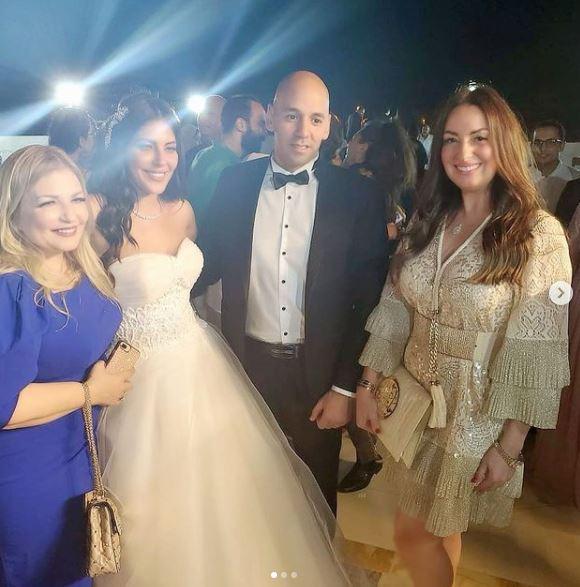 نجوم الفن يشاركون فى زفاف امانى كمال