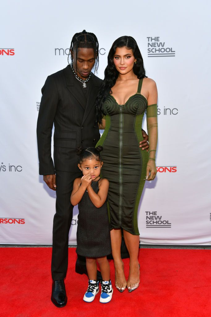 Kylie Jenner and Travis Scott Step Out with Stormi for a Rare Red-Carpet Moment