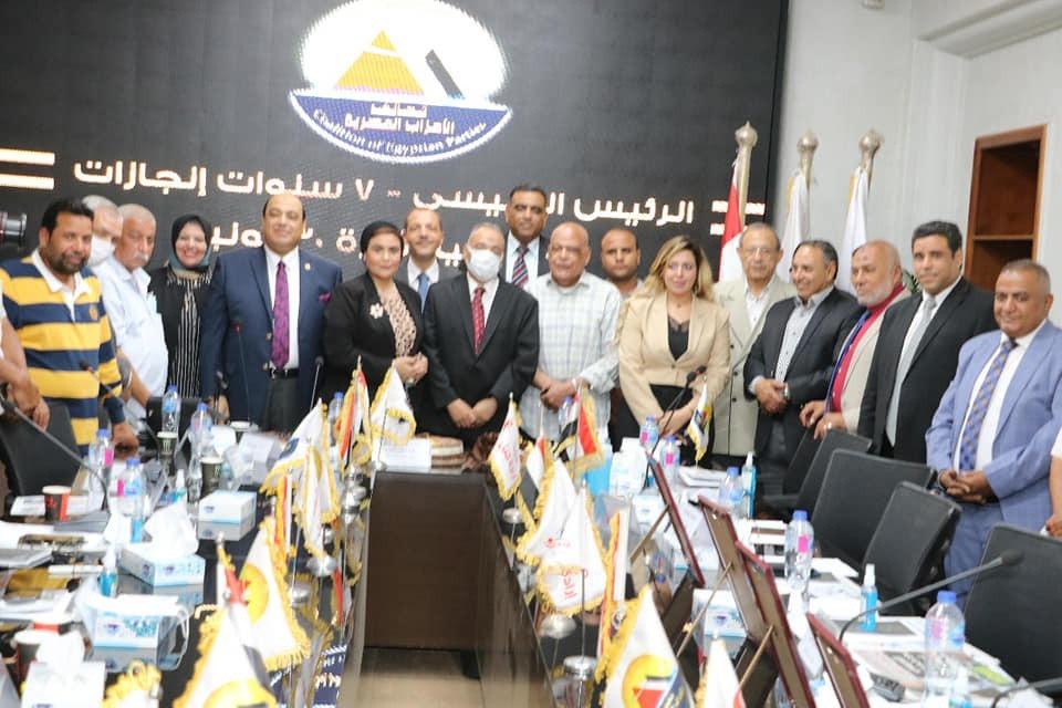 الإعلامية مني العمدة تشارك في اجتماع تحالف الأحزاب المصرية في ذكرى ثورة 30 يونيو