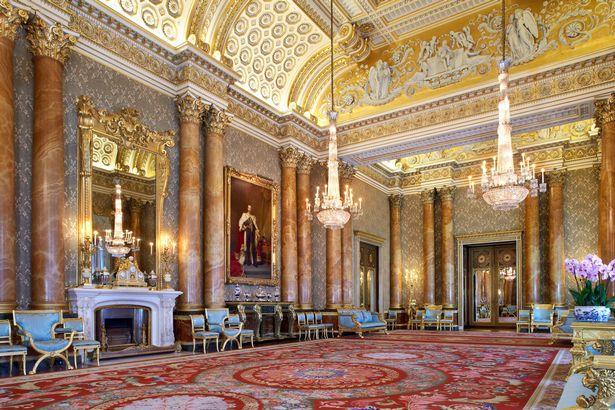 Inside Buckingham Palace's Blue Drawing Room