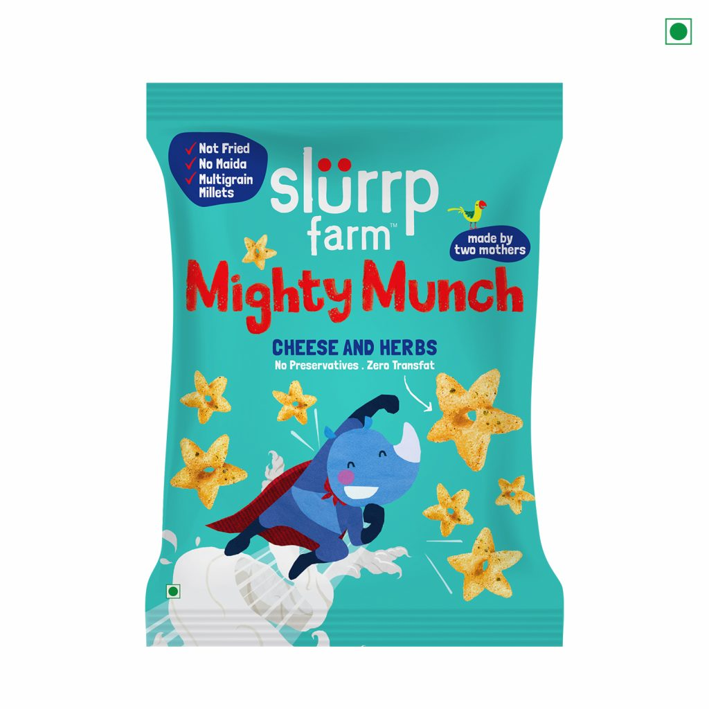 Mighty Munch (Available in Cheese and Herbs and Tangy Tomato): AED 3.7
