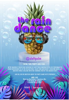 "Aloft the Palm welcomes the season with ""The Rain Dance"""