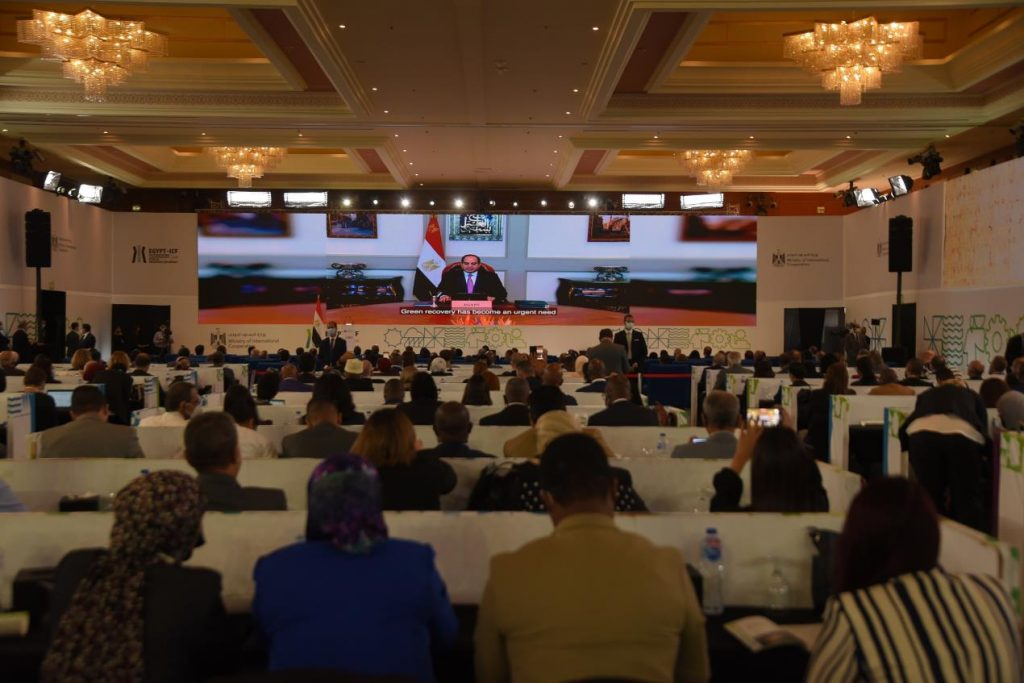 Egyptian President Abdel Fattah El-Sisi calls on international community to support global green recovery