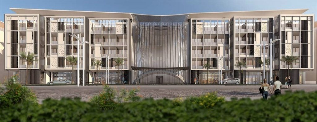 The new four-star hotel boasts 248 keys comprising 116 rooms and suites and 132 serviced apartments