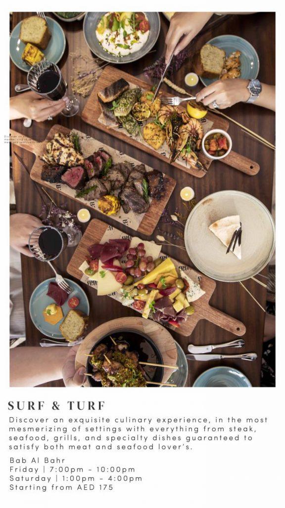 """مطعم باب البحر في منتجع عجمان سراي يقدم وجبة برانش """"سيرف آند تيرف"""" كل يوم جمعة وسبت في الوجهة الساحلية الأجمل"""