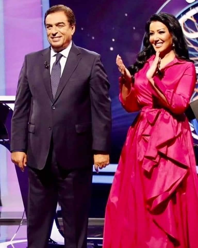 فازت سميةالخشاب وناصرالقصبي بجائزة المليون ريال في حلقة استثنائية من برنامج من سيربح المليون، من تقديم جورج قرداحي