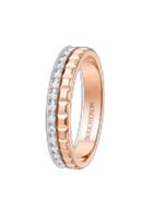 خاتم زواج Quatre Radiant Edition من الذهب الوردي والذهب الأبيض، مرصّع بالماس