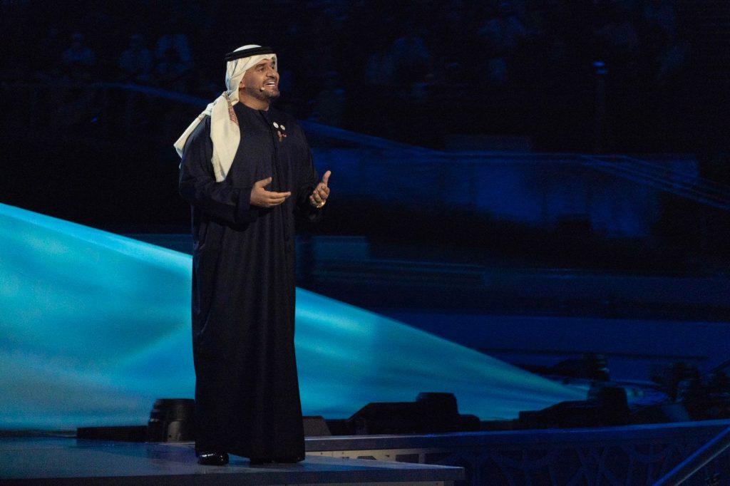 """حسين الجسمي يقود حفل إفتتاح """"إكسبو 2020 دبي"""" برائعة الشيخ زايد """"حي بالشهامه"""""""